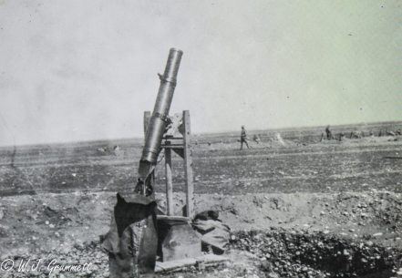 Lewis Gun in anti-aircraft mode, Persian Front, Mesopotamia, 1917/18