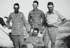 W.J. Grummett (standing at right) with fellow officers, Persian Front, Mesopotamia, 1918