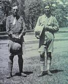 WJ Grummett and Sergeant Woods at the School of Musketry, Pachmari, India, 1918