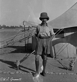 W.J. Grummett, in camp on the Persian Front, Mesopotamia, 1917/18