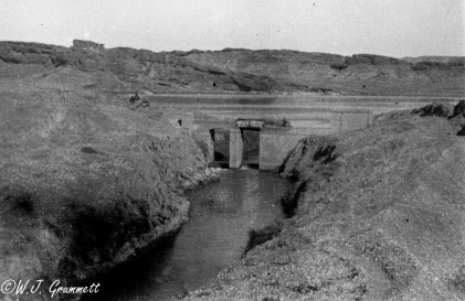 Control gate for the Ruz Canal, Diyala River, Mesopotamia, 1917/18