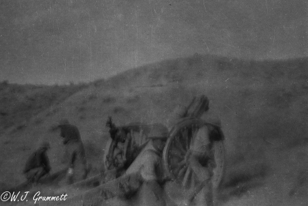 Artillery in action, Persian Front, Mesopotamia, 1917/18