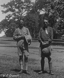 W.J. Grummett and Sgt. Woods, Pachmari, India, 1918
