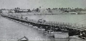 Pontoon bridge, Mesopotamia, 1917/18
