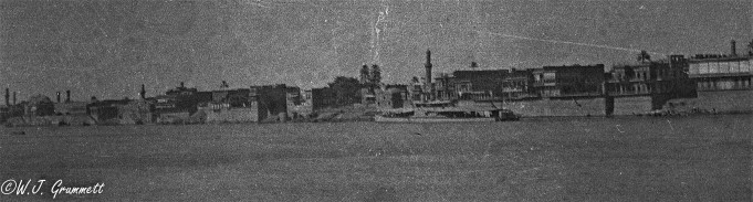 Baghdad from the Tigris River, Mesopotamia, 1917