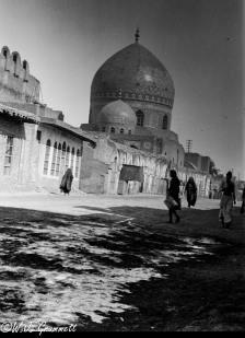 Haydar Khana Mosque as seen from Rashid Street, Baghdad, Mesopotamia, 1917