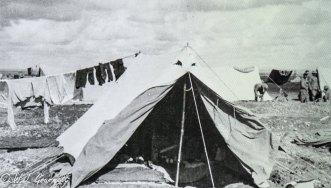 W. J. Grummett's tent, Persian Front, Mesopotamia, 1917/18