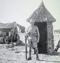 On guard, Persian Front, Mesopotamia, 1917/18