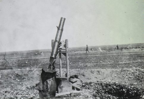 Lewis gun mounted for anti-aircraft use, Persian Front, Mesopotamia, 1917/18