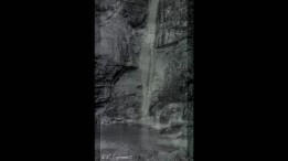 Waterfall at Pachmari, India, 1918
