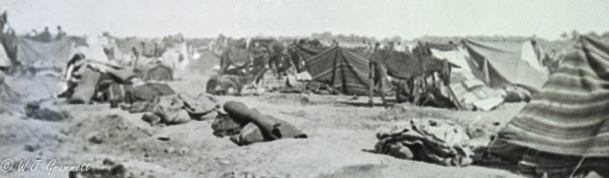 Temporary refugee camp, Persian Front, 1918